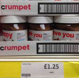 NUTELLA 400G £1.25 @ HERON FOODS - Nottingham