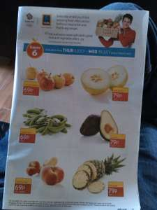 ALDI SUPER 6 --Funsize Apples--Sugarsnaps--Flat Peaches--Galia Melon--Avacado--Pineapple--