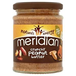Meridian Peanut Butter - Crunchy & Smooth (280G) - £1.24 @ Tesco