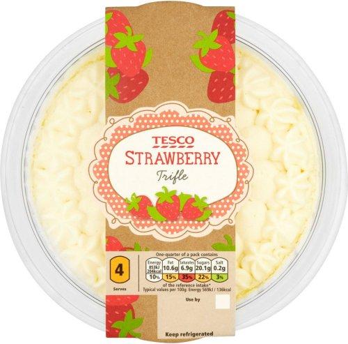 Tesco Strawberry Trifle Half Price Was £2.50 Now £1.25