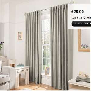 George @ Asda - Extra 20% off at basket - Blackout curtains for £22.40
