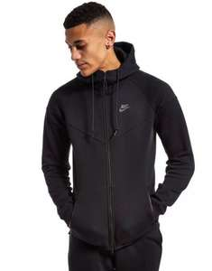 Black Nike Tech Fleece Zip Up Hoody | £55 (RRP £125) | JD Sports | Free C & C or free delivery over £60
