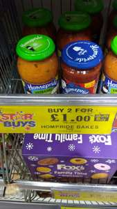 Homepride Pasta Sauces 2 for £1 @ Home Bargains