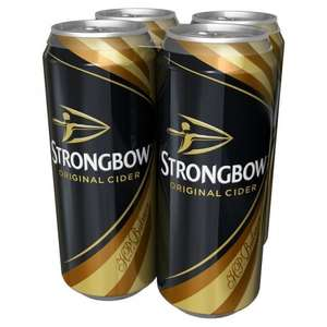 Strongbow 2 x 20 pck (40 Cans) for £20 - Tesco Groceries ONLINE