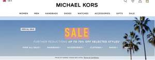 MICHAEL KORS 70% off Summer Sale