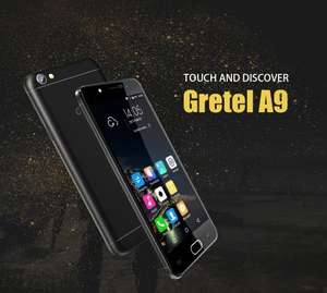 GRETEL A9 4G android phone 5.0 inch screen 2gb ram, 16gb rom metal body metal body quad core android 6 - £49.99 @ Ali Express