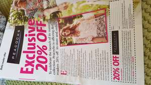 Bella magazine 20% off voucher in-store or online @ Peacocks