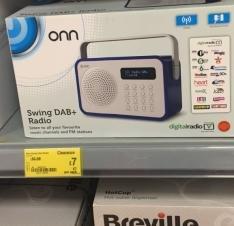 Onn Swing Dab+ Radio £7 instore @ Asda