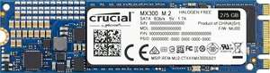 Crucial 275GB MX300 M.2 SATA 6G SSD £44.19 @ Amazon