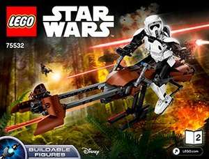 LEGO Star Wars Scout Trooper & Speeder Bike 75532 £38.08 @ Jadlamracingmodels