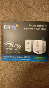 BT WiFi homeplug WiFi extender was £40 now £12 Tesco Instore