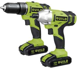 Guild Cordless Combi and Impact Driver Twinpack - 18V - £89.99 @ Argos