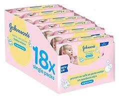 Johnsons baby wipes Extra sensitive - 18 pack box - £10.50 instore @ Tesco