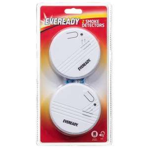 Eveready Smoke detector. Pack of 2 - £1 @ B&M