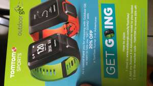 TomTom runner3 or adventurer 20%off @ OutdoorGB