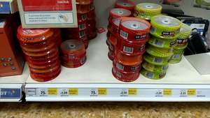 Blank CD and Dvd discs reduced to clear at tesco (Norwich). Starting from 75p