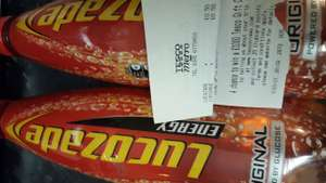 Lucozade original 1 litre bottles, 50p each at Tesco Metro (Manchester)