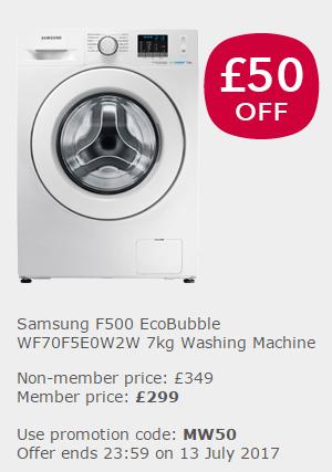 Co-op Electrical - Samsung F500 EcoBubble WF70F5E0W2W 7kg Washing Machine - £299