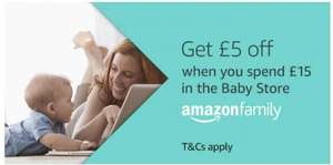 Get £5 Off when you spend £15 in Baby Store @ Amazon