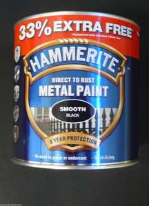 1Ltr Hammerite Smooth Black 12.99 FREE Delivery at Ebay/Superpaintexpress