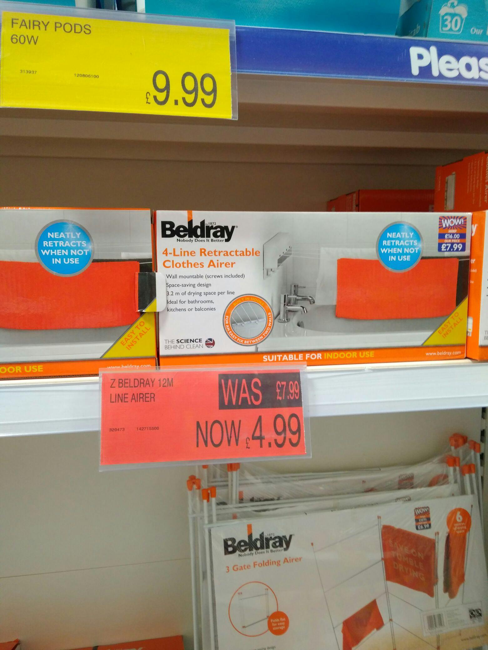 Indoor retractable 4 line dryer b&m cribbs Bristol for £4.99