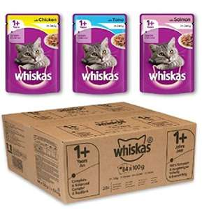 84 Whiskas Pouches (7 boxes) @ £18.50 + £5 Credit back with Amazon Prime now Delayed Del (£23.25 non prime)