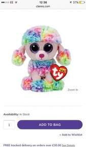 Ty beanie boo poodle 3 for £5 @ Claire's Accessories