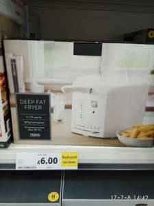 Deep Fryer reduced to clear, original price £24.50 - £6 @ Tesco instore - sheffield abbeydale road