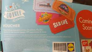 Lidl Kids Go Free voucher for SeaLife, Legoland, Chessington or Alton Towers (inside leaflet)