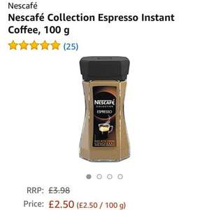 Nescafé Collection Espresso / Alta Rica Instant Coffee  £2.50 with  Prime Now App @ Amazon
