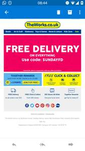 FREE DELIVERY with code @ THE WORKS