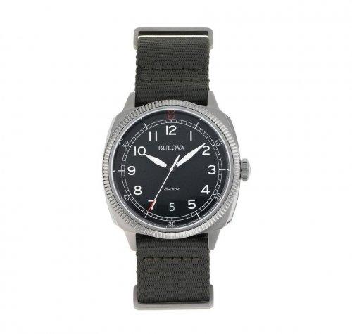 Bulova Men's Stainless Steel Green Military Strap Watch 79.99 @ Argos