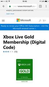 Xbox live retention deal on dashboard £26.50 @ Xbox (user specific)