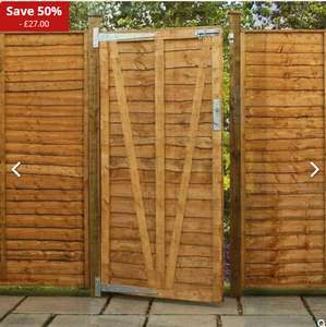 Avon 5' x 3' Lap Wooden Garden Gate with free delivery £26.99 @ sheds.co.uk