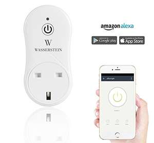 WiFi smart plug, good app, works with Alexa, £15.49 Prime or £19.48 non prime Sold by Wasserstein Appliances and Fulfilled by Amazon