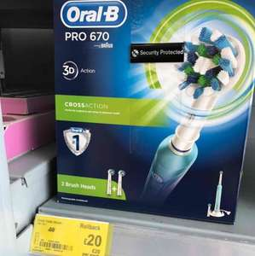 Braun Pro 670 toothbrush - £20 @ Asda - Huddersfield