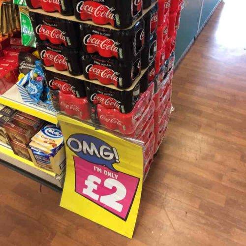 x6 Can of Coke Original or  Coke Zero £2 @ Poundland