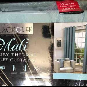 90x90 Blackout Curtains (Mali) .10p @ B&M - Doncaster