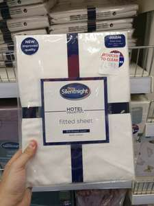 b&m Fitted sheet silent night hotel collection £4.99  Runcorn store