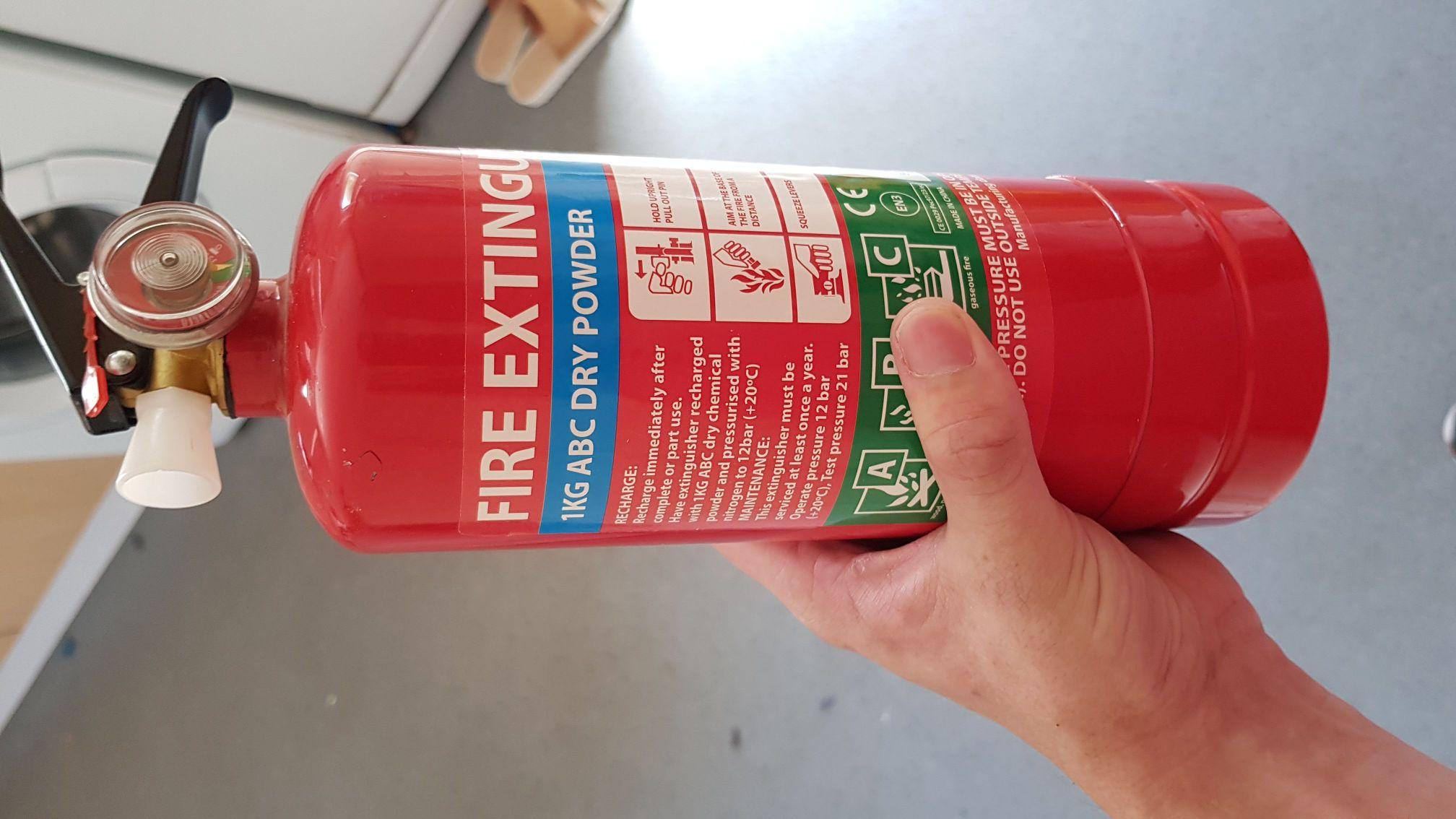 1kg Fire Extinguisher £2.99 instore @ Poundstretcher (Hertford)