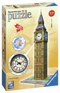 Ravensburger 3D Big Ben puzzle with real clock £6.99 down from £24.99 FREE DELIVERY Argos Ebay