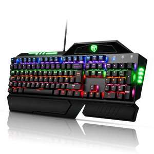 Mechanical Keyboard, [High Quality]Pictek Gaming Keyboard 105-Key LED with Multi-color 9 Backlight and USB Cable Attached Key Cap Puller Fit for Gamers Typists £37.49 Sold by YongTop and Fulfilled by Amazon.