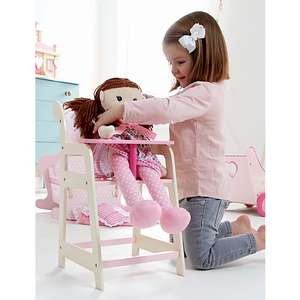 George Home Wooden Pink Toy Highchair was £20 now £12 C+C @ Asda