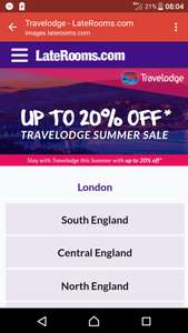 *ENDS MIDNIGHT TODAY*Upto 20% off Travelodge on LateRooms.com, 15% off July 2017 bookings 20% off August and September 2017 bookings plus extra 10% tcb @ LateRooms.com