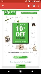 10% off code online WYS £50 @ Pets At Home. Use code