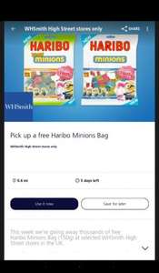 Free Haribo Minions Bag 150g from WHSmith with O2Priority