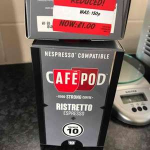 Cafepod - Nespresso compatible pods from ASDA (10 pods) £1