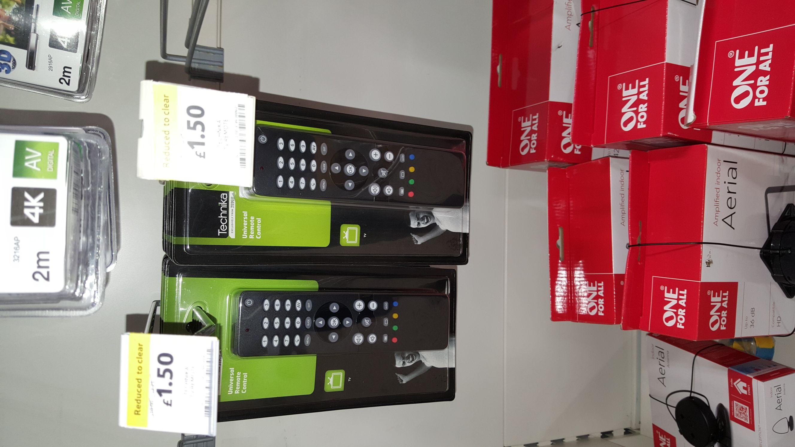 Technika Universal Remote Control £1.50 @ Tesco Rawtenstall