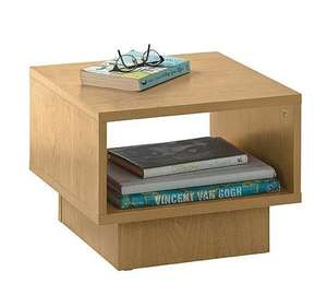 HOME Cubes 1 Shelf End Table - Beech Effect £8.99 or Buy 2 for £13.48! @ Argos