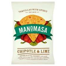 4 x 160g packs of Manomasa Tortilla Chips FREE (from Tesco) after cashback @ Checkoutsmart